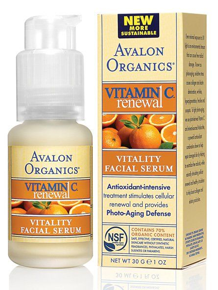 Avalon Organics Botanicals Vitamin C Vitality Facial Serum