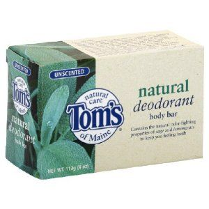 Tom's of Maine Natural Deodorant Soap Unscented 4-Ounce Bar