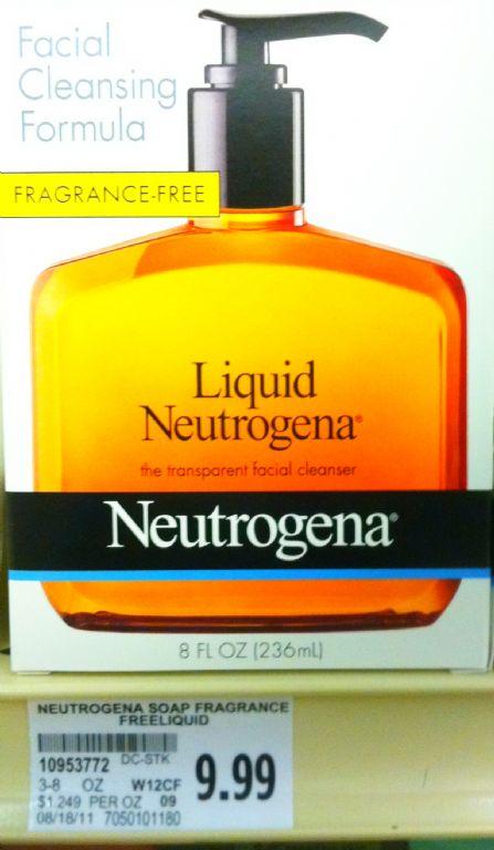 neutrogena liquid facial cleansing formula