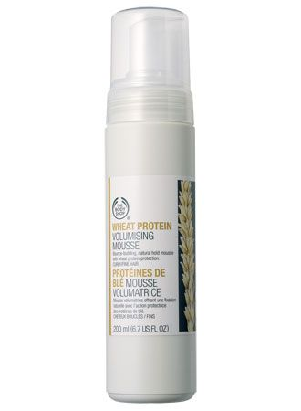 The Body Shop wheat protein volumizing mousse