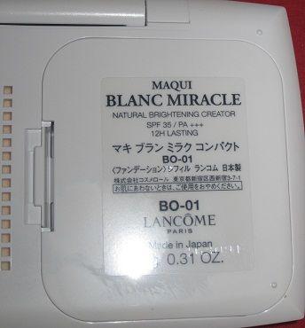 Lancome Maqui blanc miracle