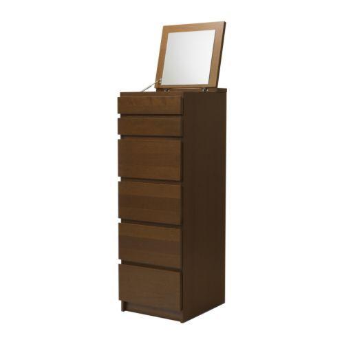 Ikea Malm 6 Drawer Chest Storage Reviews Photo