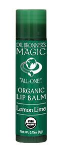 Dr. Bronner's Magic All-One! Organic Lip Balm - Lemon Lime