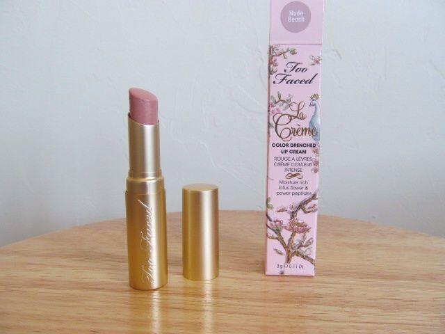 Too Faced La Creme Lipstick - Nude Beach