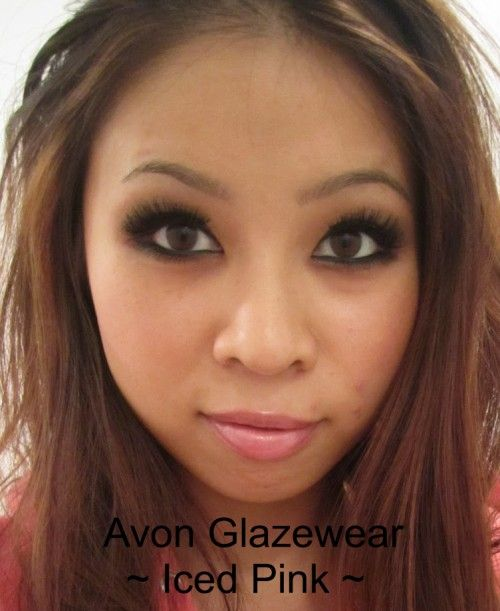 Avon Glazewear Shine in Iced Pink