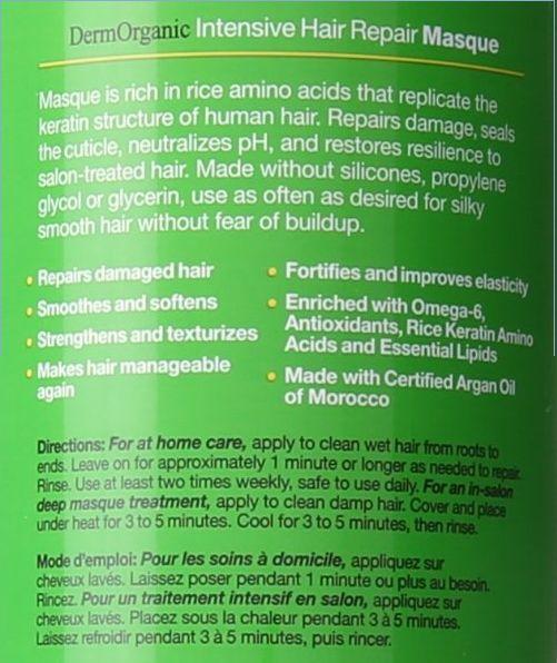 DermOrganic Intensive Hair Repair Masque