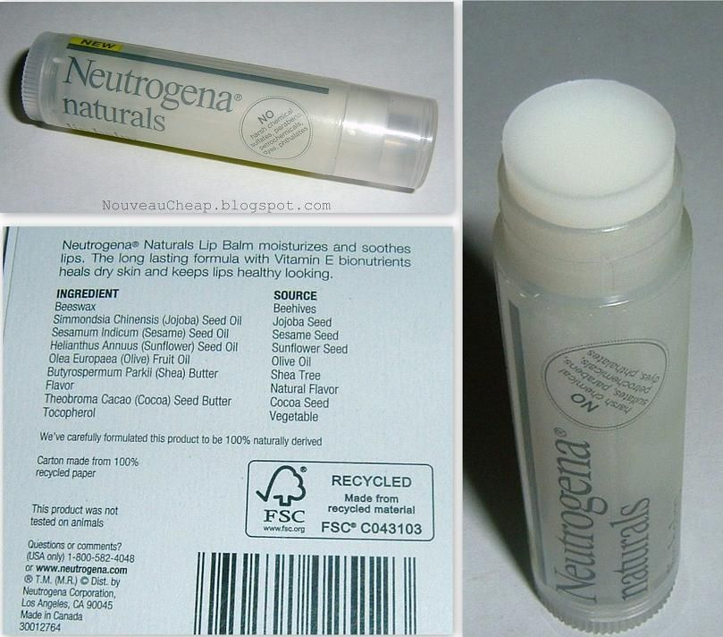 Neutrogena Naturals Lipbalm