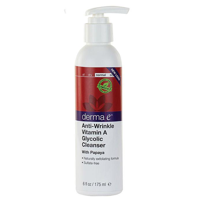 Derma E Anti-Wrinkle Vitamin A Glycolic Cleanser