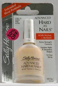 Sally Hansen Hard as Nails with Nylon nail polish