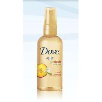 Dove Go Fresh Body Mist in Burst~ Nectarine & White Ginger