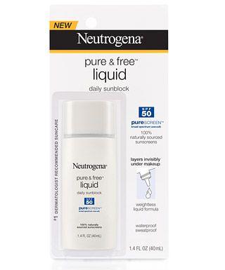 Neutrogena Pure & Free Liquid Daily Sunblock, SPF 50