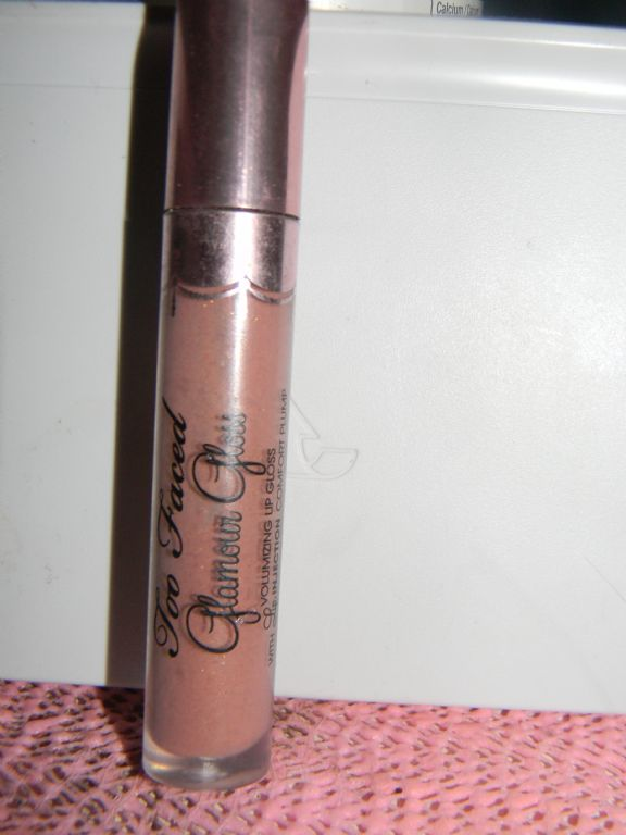 Too Faced Glamour Gloss Volumizing Lip Gloss with Lip Injection Comfort Plump in Pillow Talk