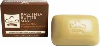 Nubian Heritage Raw Shea Butter Soap with Soy Milk Frankincense & Myrrh