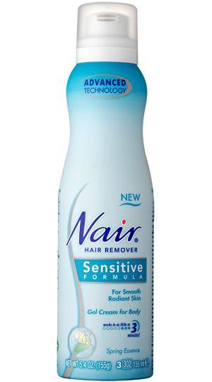 nair sensitive hair removal cream instructions