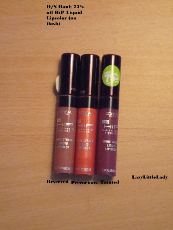 L'Oreal HIP Shine Struck Liquid Lip Color Reserved