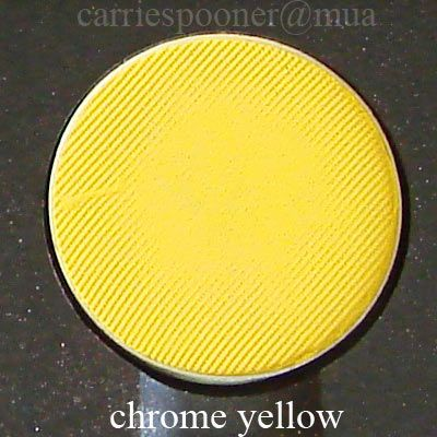 MAC Chrome Yellow eye shadow