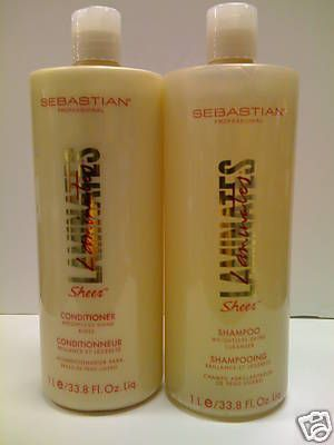 Sebastian Laminates shampoo and conditioner