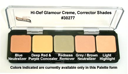 Graftobian  HD GLAMOUR CREME PALETTE, CORRECTOR SHADES