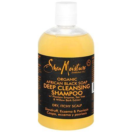Shea Moisture Organic African Black Soap Deep Cleansing Shampoo