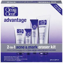 Clean & Clear Advantage 2-in-1 Acne & Mark Eraser Kit