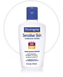 Neutrogena sensitive skin sunblock spf 30