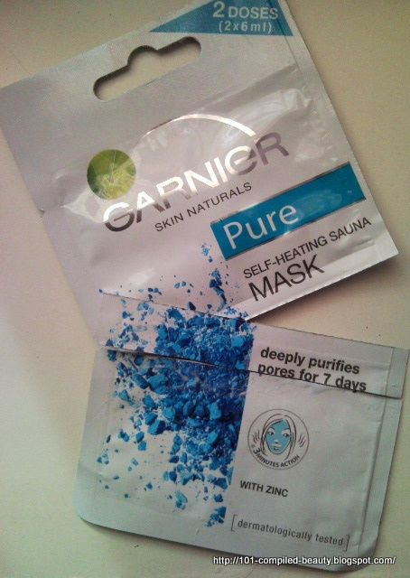 Garnier Synergie Pure Self heating sauna mask