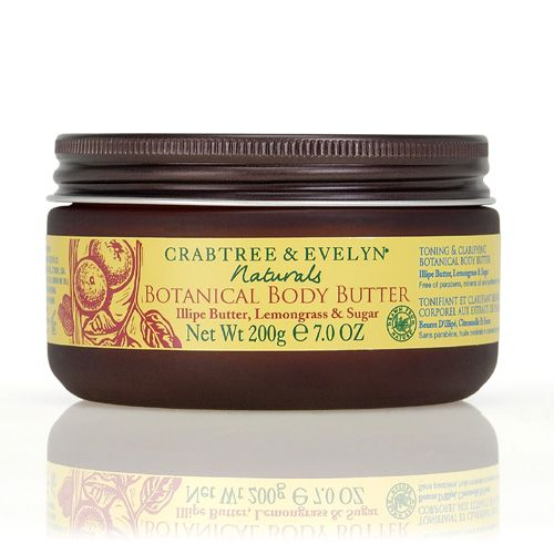 Crabtree & Evelyn Naturals Botanical Body Butter - Illipe Butter and Lemongrass and Sugar