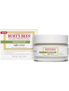 Burt's Bees Sensitive Night Cream with Cotton Extract