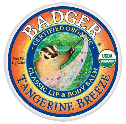 Badger Tangerine Breeze Lip Balm (Tin)