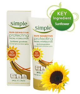 Simple Sun Sensitive Facial Hydrolotion SPF50