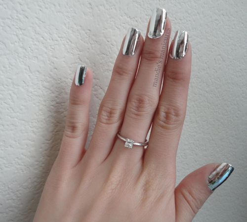 Born Pretty Nail Foil Stickers Silver Chrome
