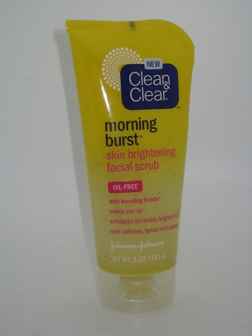 Clean & Clear Morning Burst Skin Brightening Facial Scrub (with lemon, papaya, and caffeine)