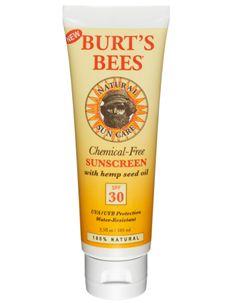 Burt's Bees Chemical-Free Sunscreen SPF 30 Non-Whitening