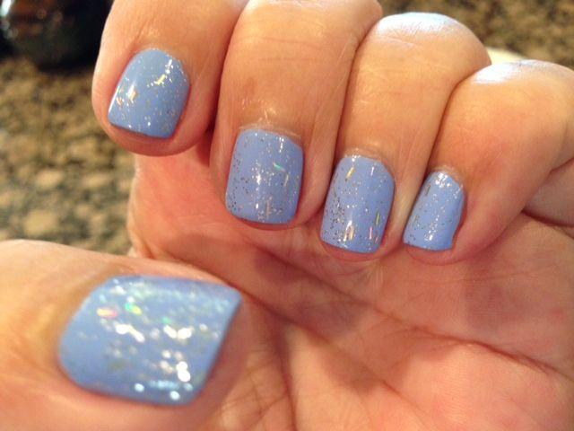 Light Blue Acrylic Nails On Dark Skin