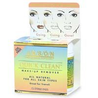 Jason up Quick natural Cosmetics remover jason pads makeup make Natural Clean remover pads (eyes,face)