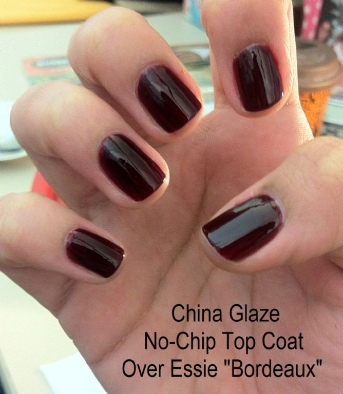 China Glaze No-chip Topcoat