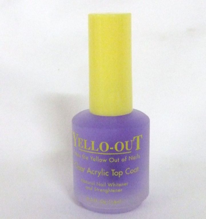 Yello-Out Clear Acrylic Top Coat - Natural Nail Whitener
