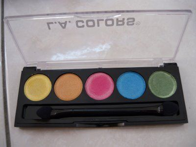 L.A. Colors 5 Color Metallic Eyeshadow in Tease