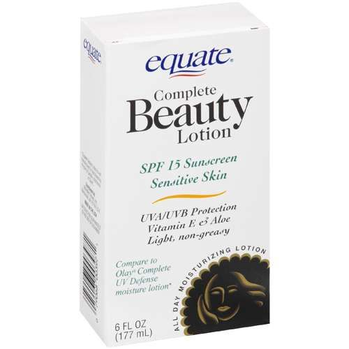 Equate Complete Beauty Lotion with SPF 15 - Sensitive Skin