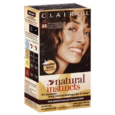 Clairol Natural Instincts in 28 Nutmeg Dark Brown
