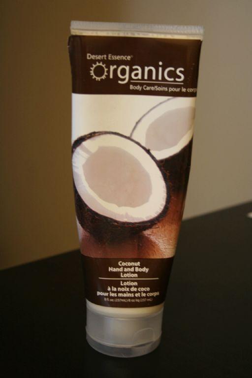 Desert Essence Organics hand and body lotion-coconut