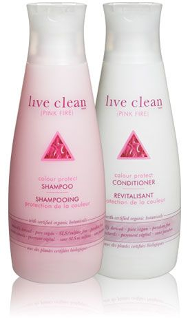 Live Clean (Pink Fire) Colour Protect Shampoo