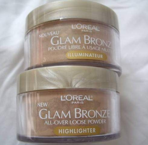 L'Oreal Glam Bronze All-Over Loose Powder Highlighter - Alluring Shimmer