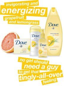 Dove Go Fresh - Grapefruit & lemongrass scent
