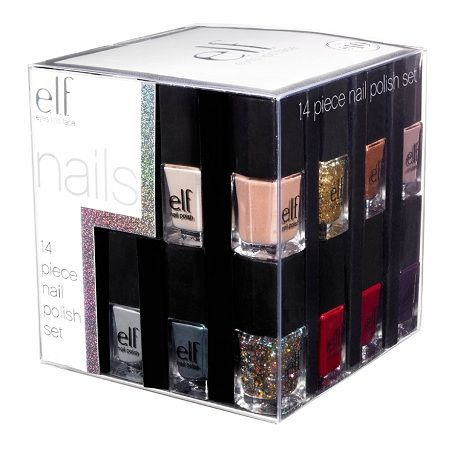 E.L.F. Holiday 14-piece Nail Cube - Limited Edition