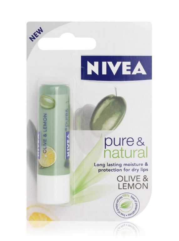 Nivea Pure & Natural - Olive & Lemon Lip Balm