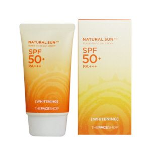 TheFACEShop Natural Sun AQ super white sun cream SPF50PA+++