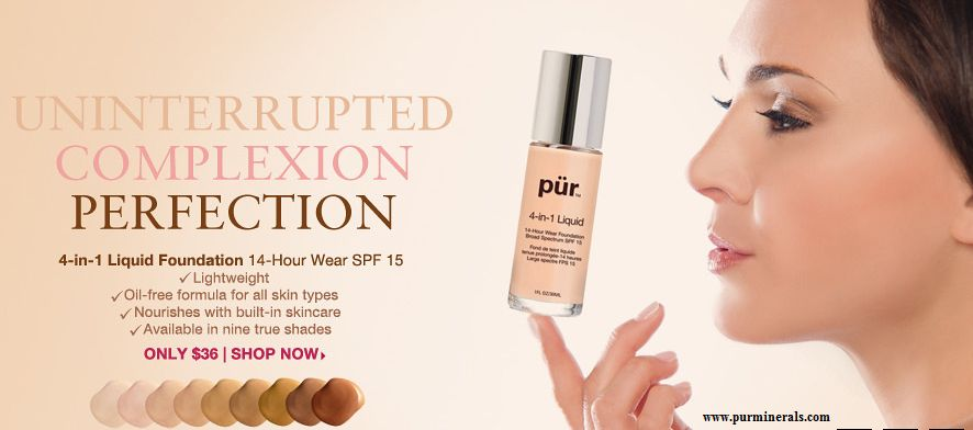 Pur Minerals 4-in-1 Liquid 14-Hour Wear Foundation