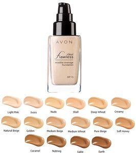Avon Ideal Flawless Invisible Coverage Liquid Foundation SPF 15