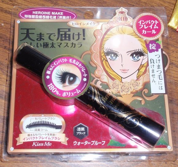 Isehan KissMe HEROINE MAKE Impact Frame and Curl Mascara (black)